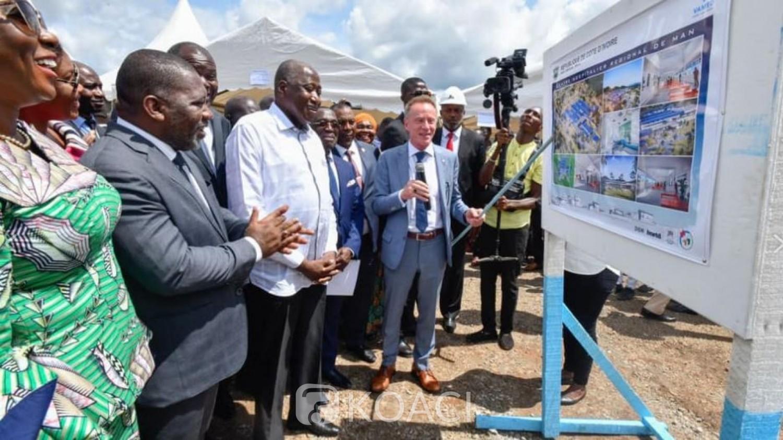Côte d'Ivoire: Dans le Tonpki, Gon lance comme annoncé la construction du CHR de Man et  de l'hôpital général de Danané