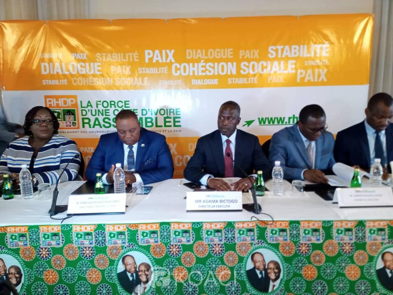 Côte d'Ivoire:  2020, le RHDP se proclame 1ère force politique avec 1.351.243 militants, dont 400.000 transfuges du PDCI-RDA et 100.000 adhérents de l'UDPCI