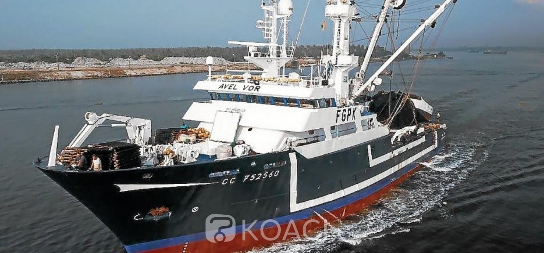 Liberia: Naufrage du navire français de pêche Avel Vor