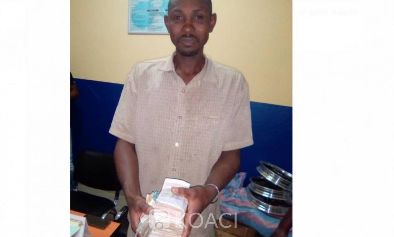 Côte d'Ivoire: À  Bouaké, un ressortissant Malien interpellé après avoir cambriolé un magasin et emporté une somme de 3 millions