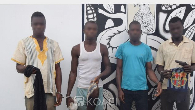 Côte d'Ivoire: Arrestation d'un présumé gang de quatre coupeurs de route à l'ouest