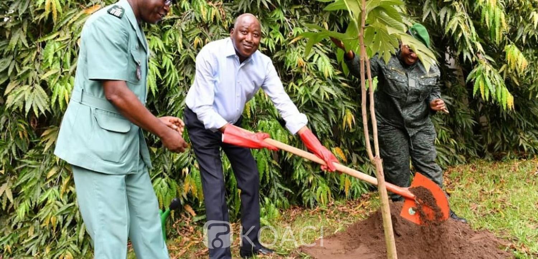 Côte d'Ivoire: Opération « Un jour, un million d'arbres », après Ouattara, Gon plante à son tour un arbre dans le jardin de la Primature