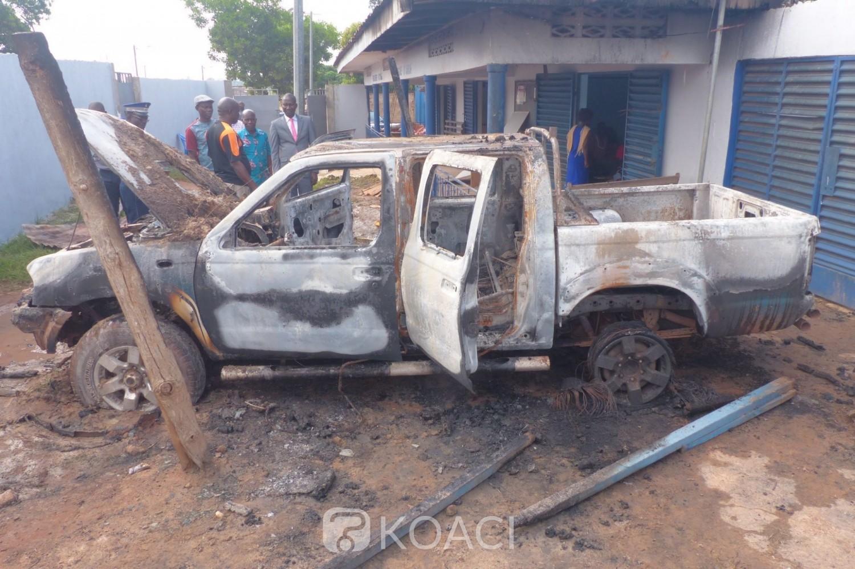 Côte d'Ivoire: À Arrah,la brigade de gendarmerie frôle la catastrophe, un camion de patrouille prend feu