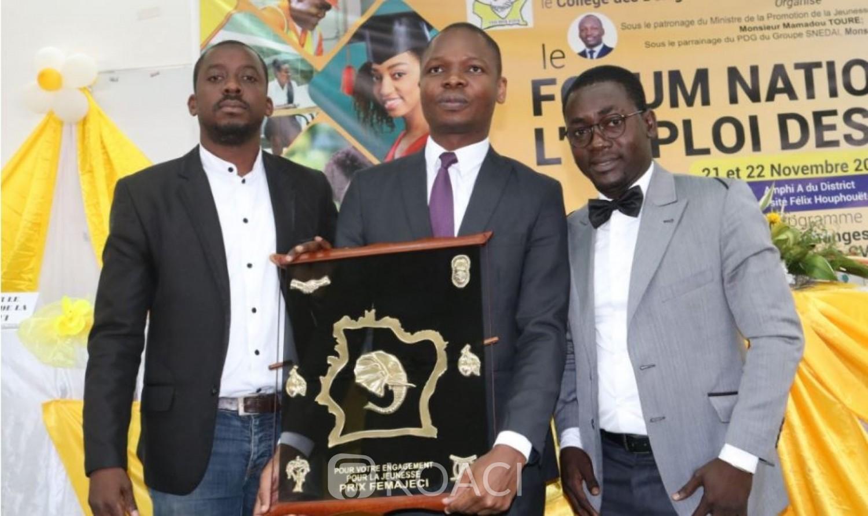 Côte d'Ivoire: 1ere édition du Forum National pour l'Emploi des Jeunes, Mamadou Touré distingué pour son engagement en faveur de l'insertion de la jeunesse