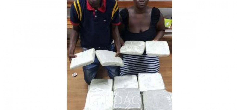Côte d'Ivoire: Une vendeuse de drogue et son fournisseur planteur à Bonoua interpellés à Port Bouët