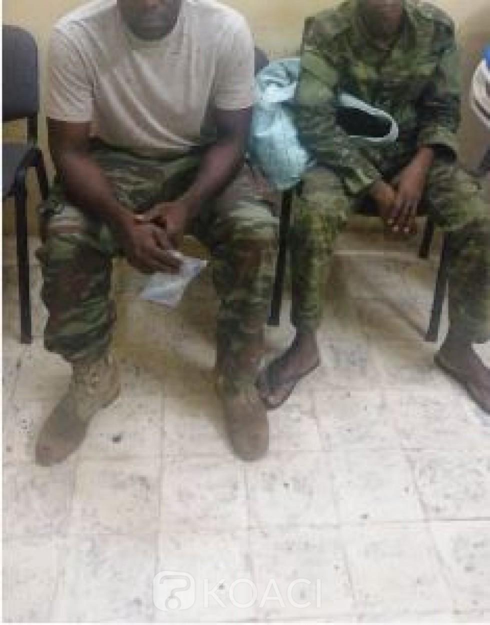 Côte d'Ivoire: Aboisso, deux faux militaires en possession d'une arme et de Médicaments de  Qualité  Inférieure  et  Falsifiés mis aux arrêts