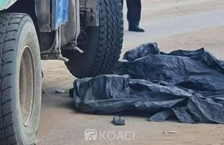 Côte d'Ivoire: Cocody, deux individus à moto entrent en collision avec un gros camion, coincés ils décèdent