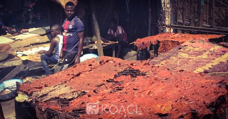 Côte d'Ivoire: Beurk! Voici comment on traite le fameux «Pklo» de placali et la viande de choukouya à Abidjan !
