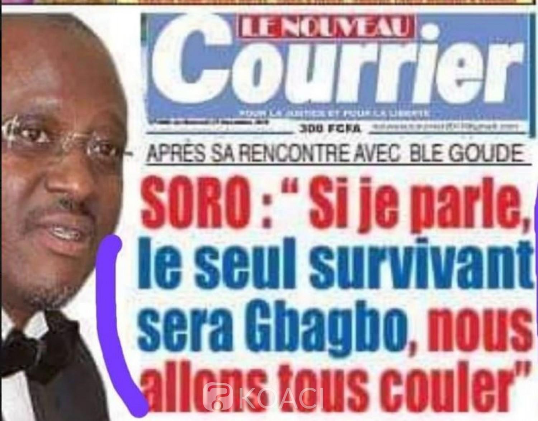Côte d'Ivoire: « Affaire si je parle, le seul survivant sera Gbagbo, nous allons tous couler », le camp Soro dénonce une désinformation du  media de Stephane Kipré