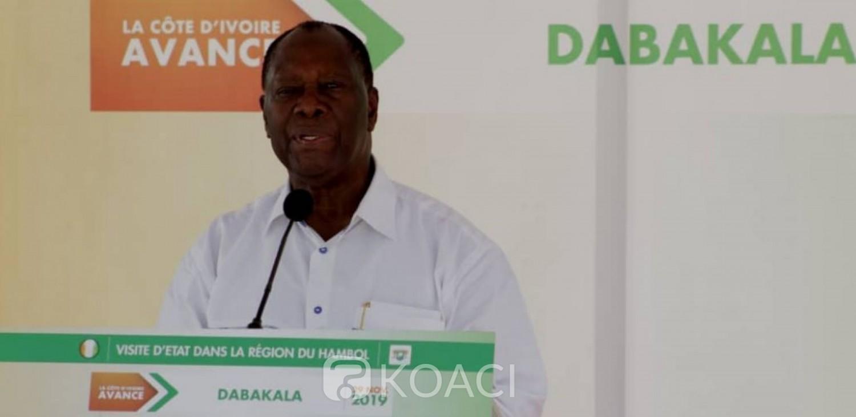 Côte d'Ivoire :   Depuis Dabakala, Alassane Ouattara à propos de l'élection de 2020 : « j'ai fait un bon rêve. Je sais comment les choses vont se faire »