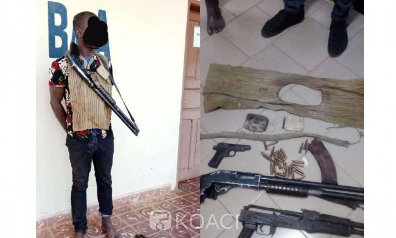 Côte d'Ivoire:   Abengourou, un bandit de grand chemin d'un gang interpellé en possession d'armes de guerre