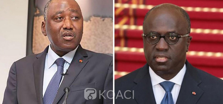 Côte d'Ivoire :  RHDP, choix du candidat à la présidentielle de 2020, Amadou Gon et Amon-Tanoh se regarderaient en «chien de faïence »