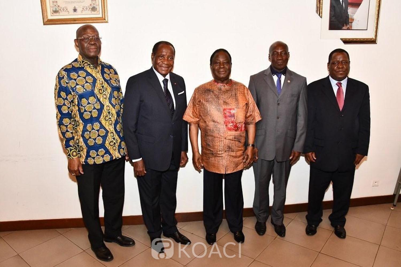 Côte d'Ivoire: Nommés, le général Michel Gueu, Bleu-Lainé et Yao Kouassi chez Bédié pour exprimer leur gratitude