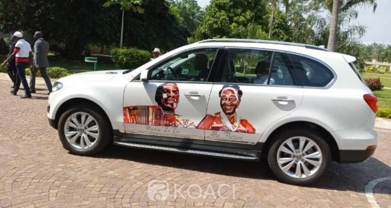 Côte d'Ivoire: Yamoussoukro, hommage du RHDP à Houphouët-Boigny, Ouattara fait don d'un véhicule flambant neuf à Allah Thérèse