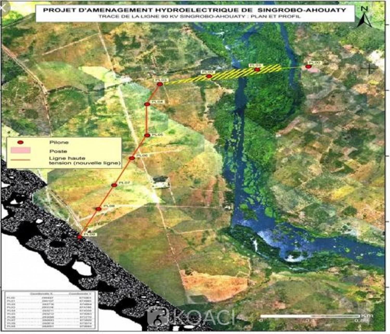 Côte d'Ivoire: Le montant de la purge des droits coutumiers du  projet d'aménagement hydroélectrique de Singrobo-Ahouaty fixé à 375 FCFA  le m2