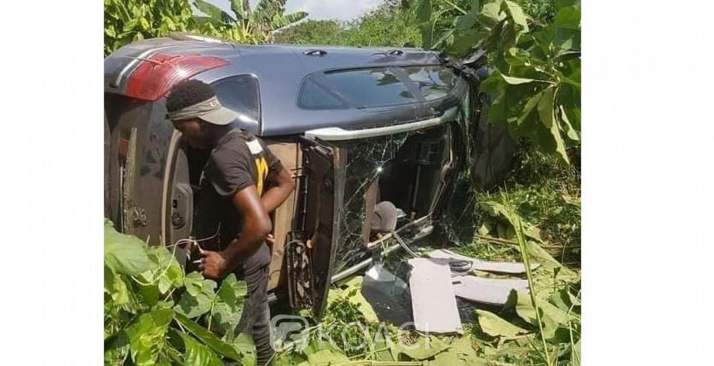 Côte d'Ivoire: De retour des funérailles, Justin Koua victime d'un accident, son véhicule fait plusieurs tonneaux