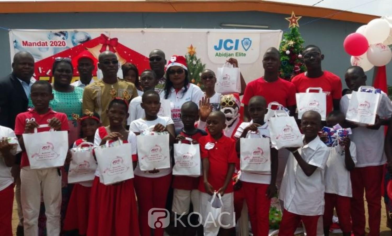 Côte d'Ivoire: La JCI Abidjan Elite apporte aux enfants en situation d'handicap de l'école des sourds  le sourire via des dons en nature