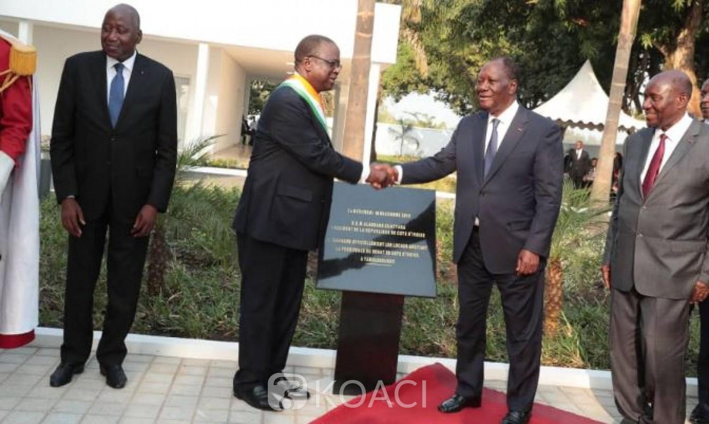 Côte d'Ivoire:  Yamoussoukro, inauguration du siège du Sénat par Ouattara, Ahoussou annonce l'installation définitive de la deuxième chambre dans la capitale politique