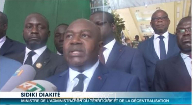Côte d'Ivoire: Sidiki Diakité invite tous les maires à surseoir dans leur commune  toutes manifestations politiques jusqu'en début 2020