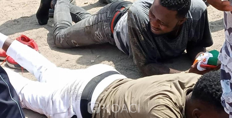 Côte d'Ivoire : Macron à Koumassi, deux voleurs de portables appréhendés par la police aux abords du Complexe sportif