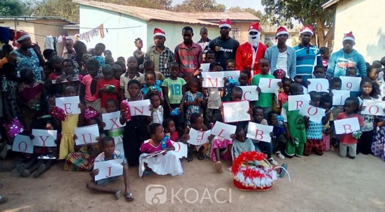 Côte d'Ivoire: Brobo, pendant la fête de Noël, un étudiant improvise une action et offre 500 cadeaux aux enfants