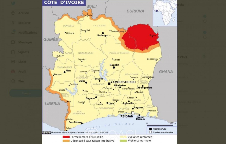 Côte d'Ivoire: Attaques de bandes armées au Burkina, la France déconseille le nord du district du Zanzan et l'est du district des Savanes