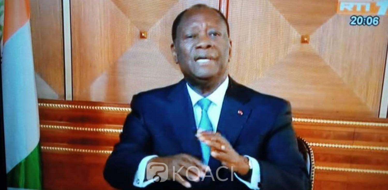 Côte d'Ivoire :  Message à la nation, Ouattara annonce une rencontre entre gouvernement, partis politiques et société civile à partir de janvier pour l'organisation des élections de 2020
