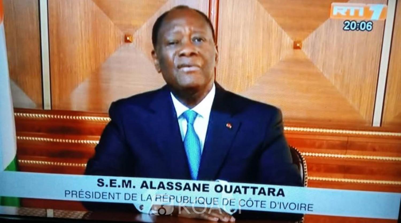 Côte d'Ivoire :  Message à la nation, Ouattara à propos de l'actualité sécuritaire: « L'Etat sera là pour garantir la Paix si chèrement conquise ainsi que la sécurité des ivoiriens »
