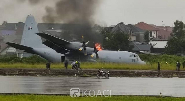 RDC: Un avion sud-africain prend feu après avoir raté son atterrissage sans faire de victimes