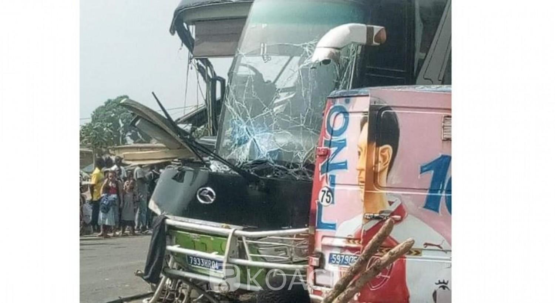 Côte d'Ivoire: A Logoualé, une violente collision entre un car  et un camion remorque fait de blessés graves