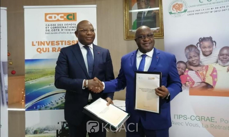 Côte d'Ivoire: Fond de retraite, un accord signé  entre la caisse de dépôt et de consignation  et la CGRAE
