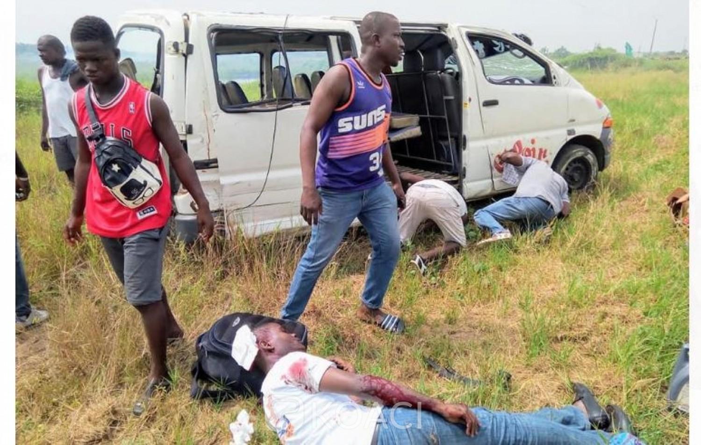 Côte d'Ivoire: Drame, à Moossou, un véhicule de transport fait une sortie de route, des blessés graves