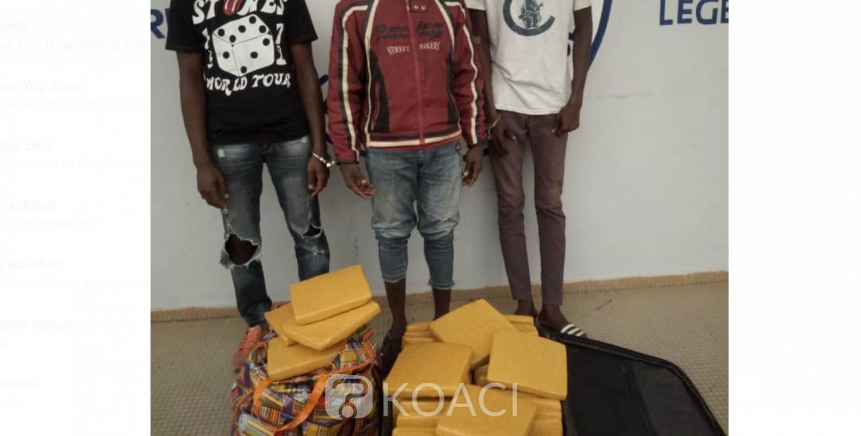 Côte d'Ivoire: Cachés à Kongodékro, trois dealers interpellés avec une valise de drogue