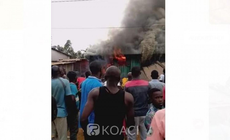 Côte d'Ivoire: À Tiassalé, un court-circuit provoque un incendie, une quincaillerie et un atelier de couture  de fortune partent en fumée