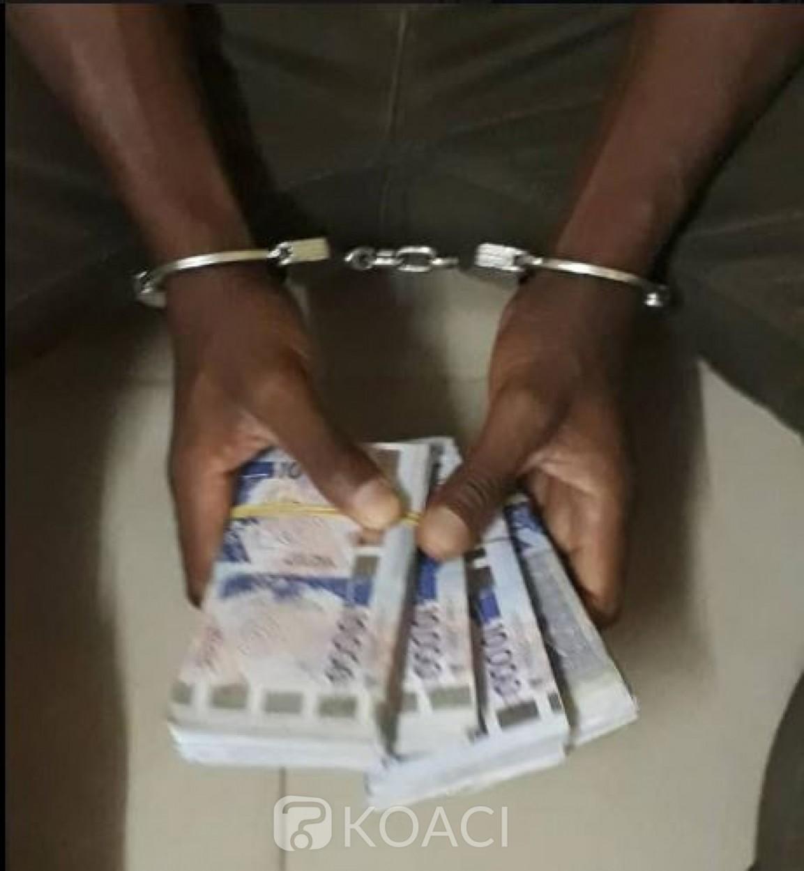 Côte d'Ivoire: Un individu suspecté du vol de 23 millions interpellé à Issia