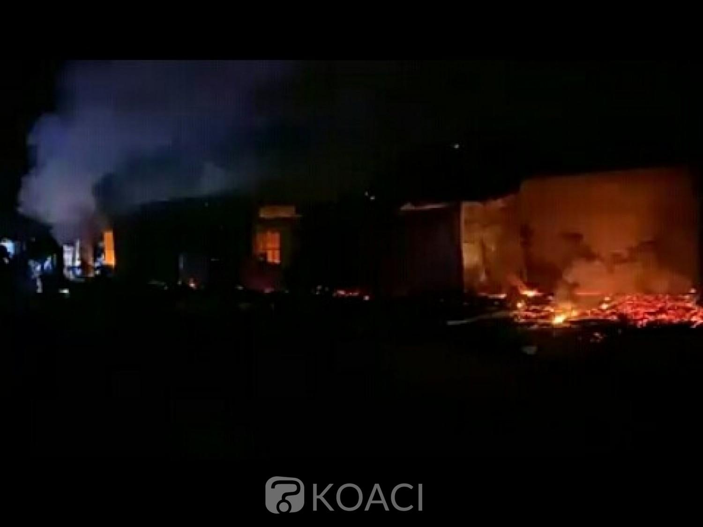 Côte d'Ivoire: Man, nouveau sinistre dans le Tonkpi, le marché de Boubous Yakouba incendié