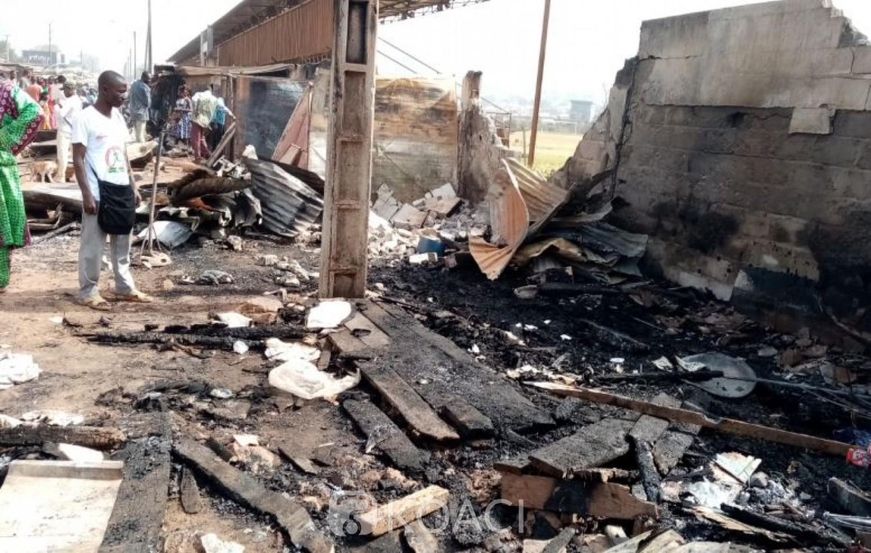 Côte d'Ivoire: Un incendie ravage le grand marché de Man, des magasins ravagés par le feu