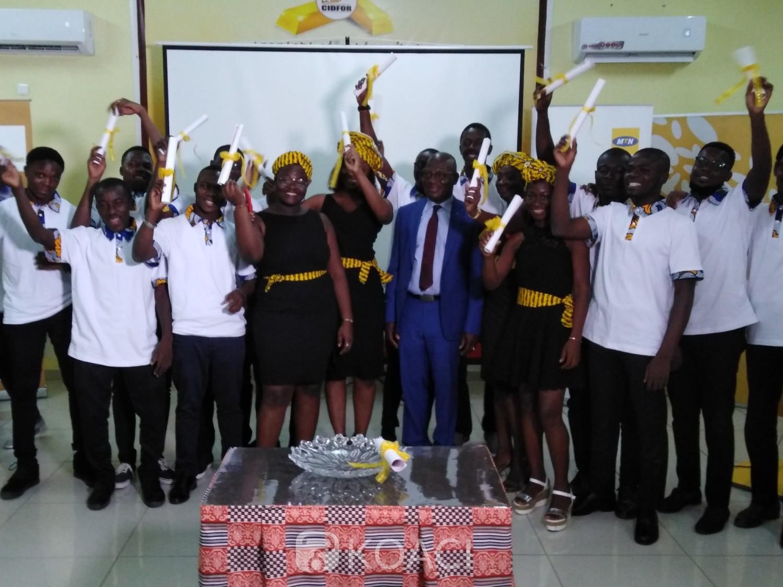 Côte d'Ivoire : Les premiers étudiants de la MTN Academy ont reçu leurs certificats de formation