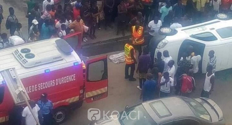 Côte d'Ivoire : Drame, à Yopougon, une fourgonnette renverse  une femme avec son bébé au dos