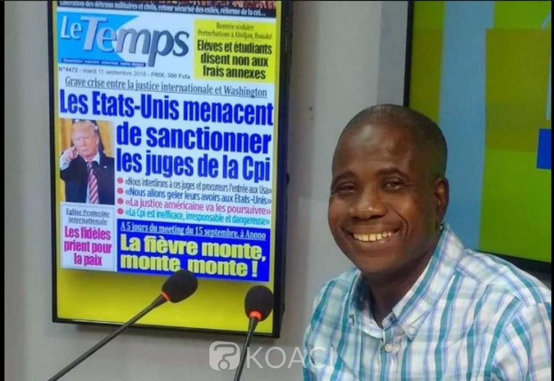 Côte d'Ivoire : Le DP du journal « Le Temps » pro-Gbagbo convoqué mardi à la Gendarmerie, ce qui lui est reproché