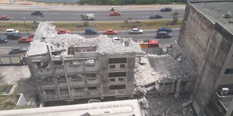 Côte d'Ivoire : Drame, au Plateau, un bâtiment en démolition s'écroule sur des ouvriers et fait au moins un mort