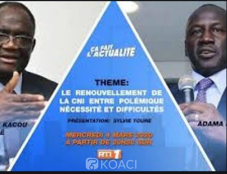 Côte d'Ivoire : Débat sur la CNI,  le face-à-face Guikahué-Bictogo reporté, la RTI s'excuse mais ne donne pas les raisons