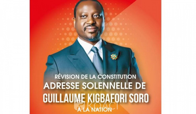 Côte d'Ivoire : Ouattara renonce à un 3ème mandat, Soro qui affirmait qu'il se représenterait, annonce une déclaration