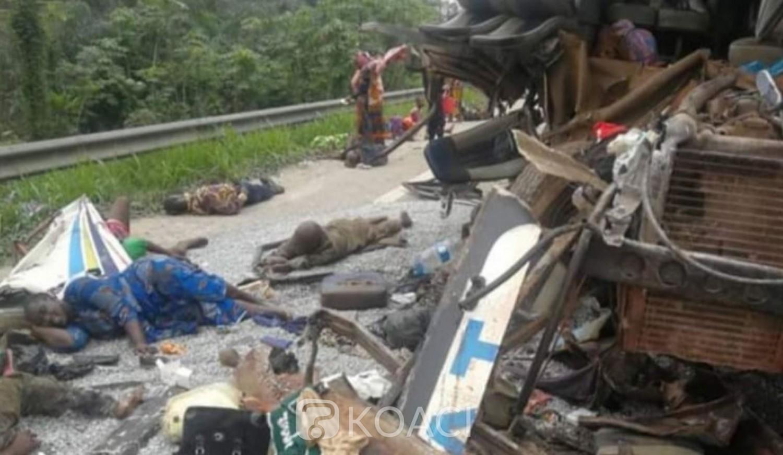 Côte d'Ivoire : Tragique accident sur l'autoroute du Nord, 1 mort et 24 blessés graves suite à une collision entre un camion et un car