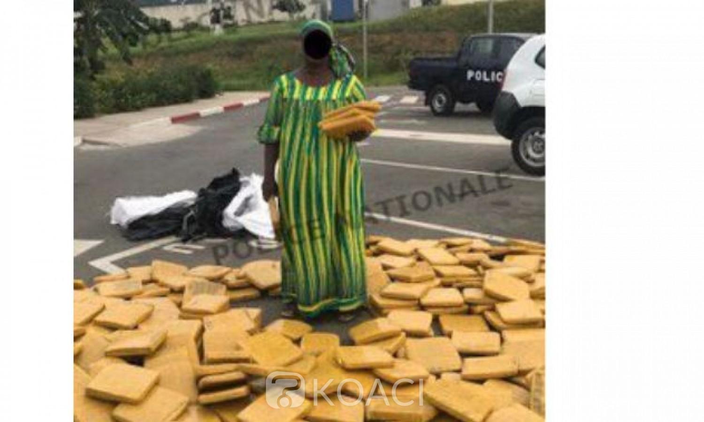 Côte d'Ivoire : À Abobo, une dame arrêtée alors qu'elle venait de recevoir une importante quantité de cannabis