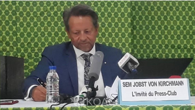 Côte d'Ivoire : L'Ambassadeur de l'UE, Jobst Von Kirchmann à propos du processus électoral : « Je ne suis pas la Cour Suprême »