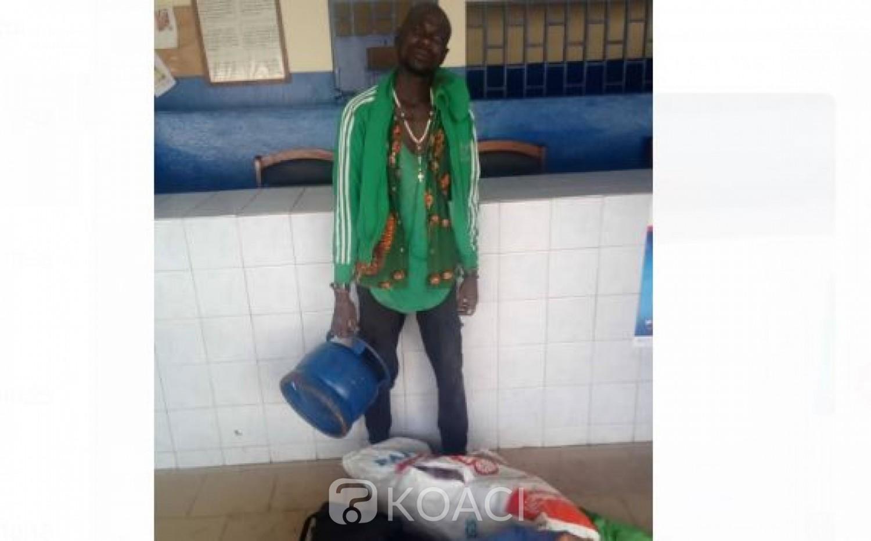 Côte d'Ivoire : A Abobo, juste après le couvre-feu, un présumé voleur interpellé alors qu'il tentait de voler une bouteille de gaz et des produits cosmétiques
