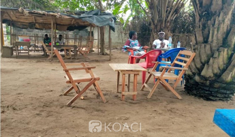Côte d'Ivoire : Prévention de propagation du Coronavirus, après le premier jour du couvre-feu, à N'dotré (Abobo), restaurant vides, restauratrices inquiètes