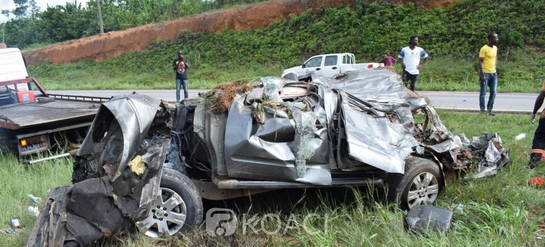 Côte d'Ivoire : Un 4*4 et un poids lourd se percutent sur l'autoroute du Nord, 2 morts