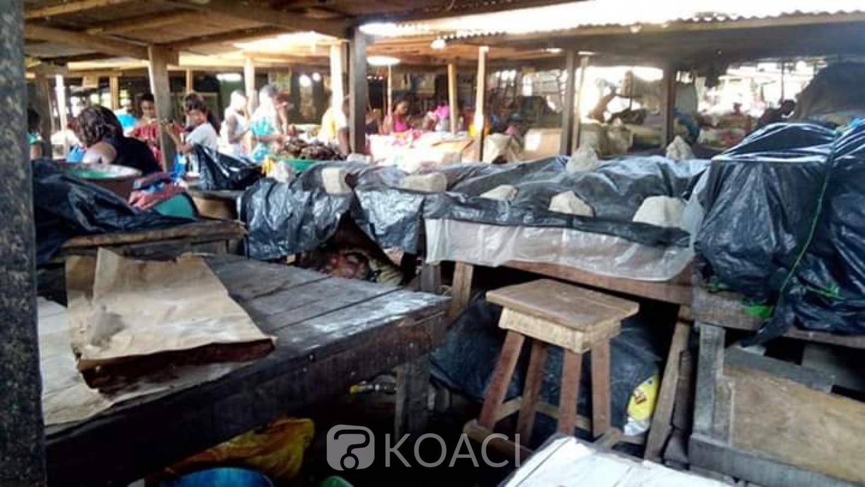 Côte d'Ivoire : Coronavirus, 3è jour du couvre-feu, au marché de Sicogi à Yopougon, respect des mesures prises, la désolation des commerçantes